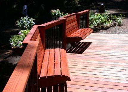 Redwood deck in the trees part 2 buy redwood for Redwood vs composite decking