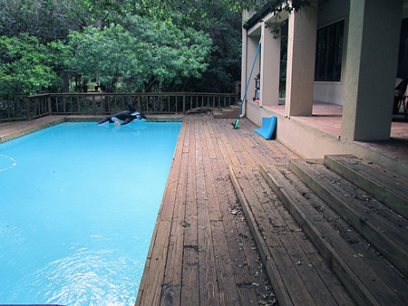 Decking project in texas buy redwood for Redwood vs composite decking