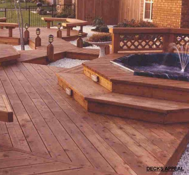 Redwood deck in texas buy redwood for Redwood vs composite decking