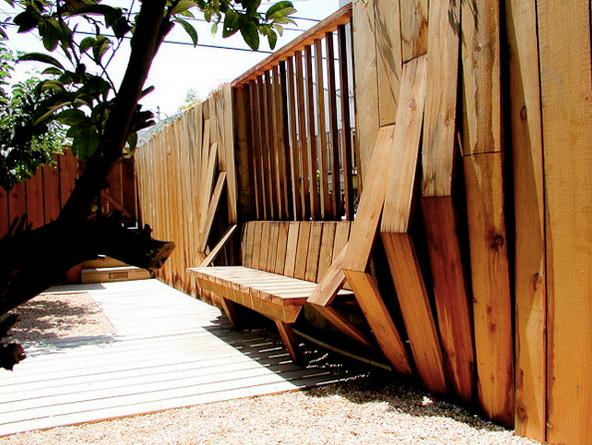 Redwood tectonic bench fence buy redwood redwood tectonic bench fence workwithnaturefo
