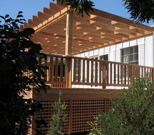 Deck With Arbor Amp Under Deck Lattice Enclosure Buy Redwood