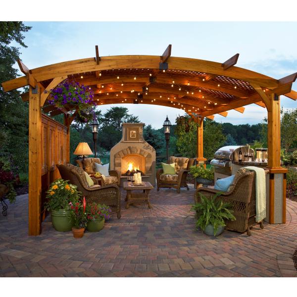 Our 4 Favorite Patio Pergola And Deck Lighting Design Tips: Three Great Redwood Pergola Designs
