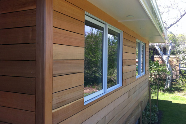 From houselogic caring for wood siding buy redwood for Types of wood siding for houses