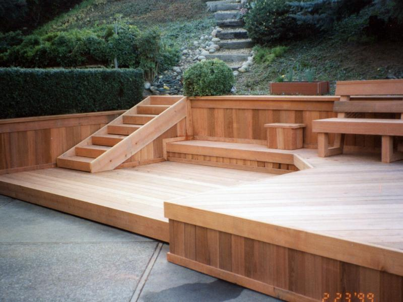 Decks buy redwood for Redwood vs composite decking